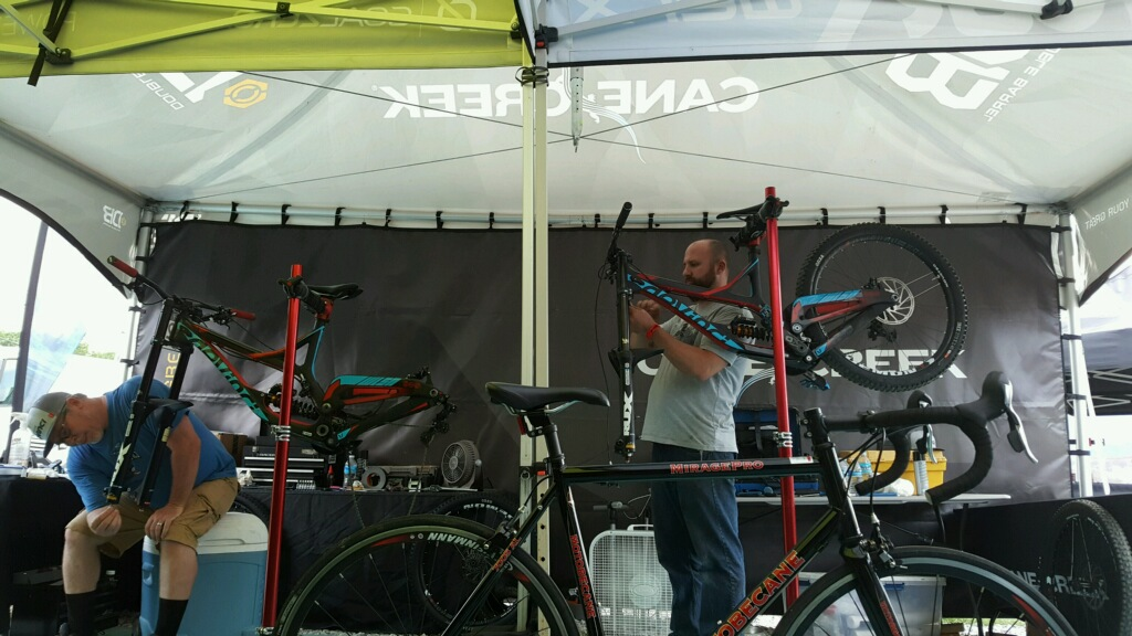 Manager and owner working on the bikes...could Friday, Saturday or Sunday. LOL